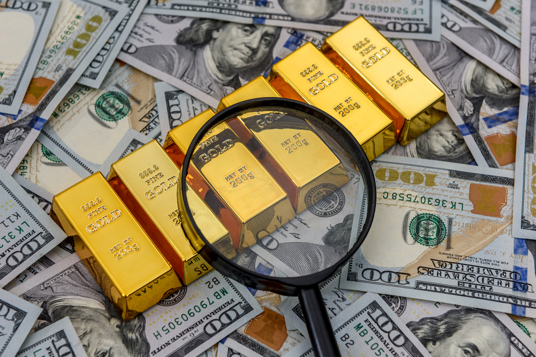 Gold bullion as a cash investment.
